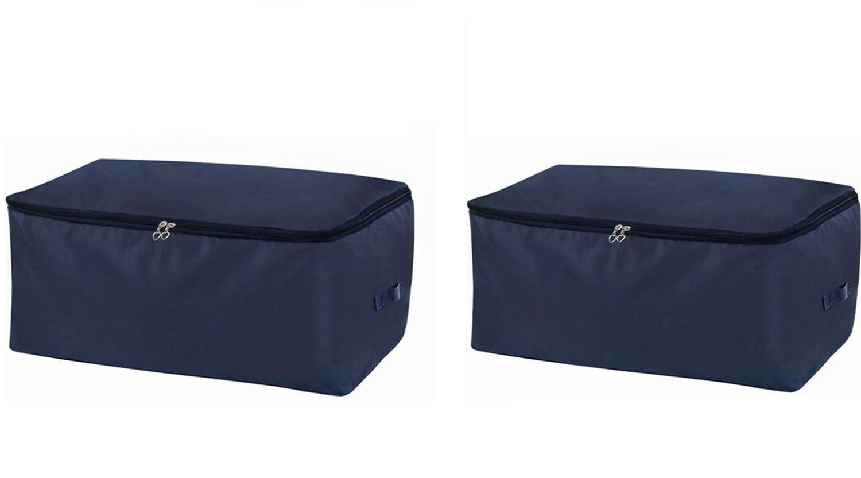 Piezas Bolsa de Almacenamiento Debajo de la Cama de Tela Oxford Gruesa Plegable Organizador de Edredones Manta Ropa de Polvo con la Cremallera Guardar la Ropa Edredones Ropa de Cama Almohadas