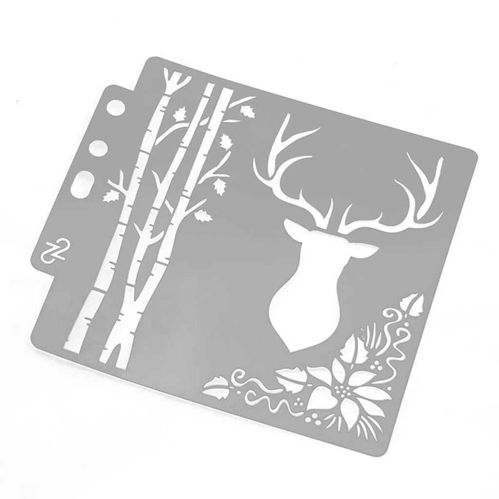 S51 gabarits Mod/èle Peinture Murale Scrapbooking Gaufrage estampage Album Carte dartisanat Dabixx Peinture Pochoir