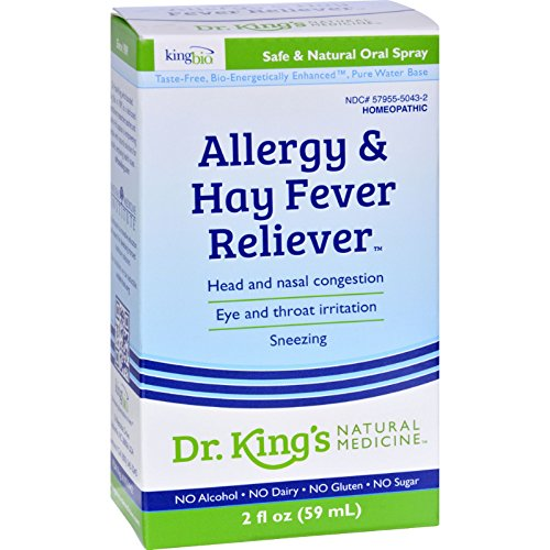 King Bio Homeopathic Allergies and Hay Fever - Safe and Natural - No Alcohol - 2 fl oz (Pack of 2)