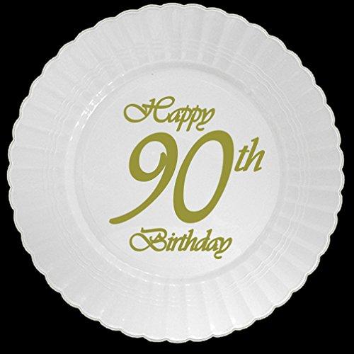 Partypro 90TH Classy Birthday Plastic Dessert Plate (8 CT.)]()