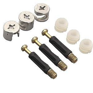 50 PCS Furniture Connecter Cam Lock Fittings, Furniture Connecting Fastener Lock Nut