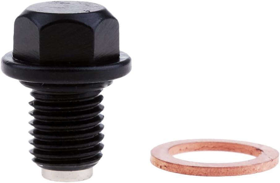 Schwarz Magnet /Ölablassschraube Magnetsumpf Ablassschraube Metallst/ücke F/ür Yamaha Fz Fj Mt 09 Yzf-r1 R6 Trx850
