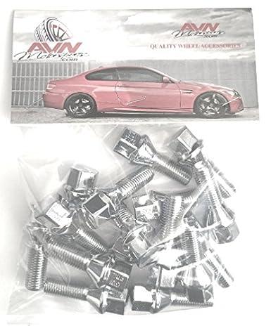 12x1.75 Acorn Lug Bolt Chrome Heat Treated Conical Seat OEM 12mmx1.75 Thread Size 28mm Shank 20 Pieces 17mm Hex
