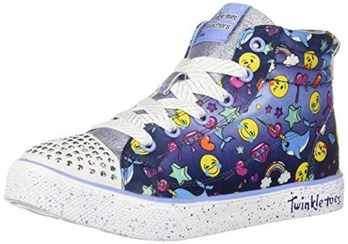 Skechers Kids Girls' Twinkle Breeze 2.0-Sparkles Sneaker Navy/Multi 13 Medium US Little Kid