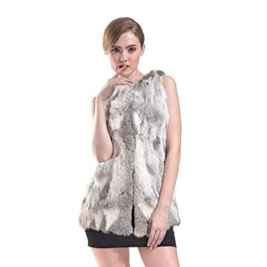 e20018df710a Blouson Femme Vintage Grande Taille Hiver Gilet De Fourrure Épaisseur Spécial  Style sans Manches Warm Art
