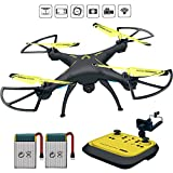 Honor-Y RC Drone with Camera Live Video, 720 HD FPV Drones RC Quadcopter Drones for Beginners, 2.4GHz 6-Axis Gyro RC Helicopter Drones for Kids/Adults Traning (Yellow)