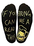 'If You Can Read This Bring Me A Beer' Funny Ankle Socks