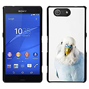 TopCaseStore / la caja del caucho duro de la cubierta de protección de la piel - Bird Parrot Blue Baby White Yellow Peak - Sony Xperia Z4