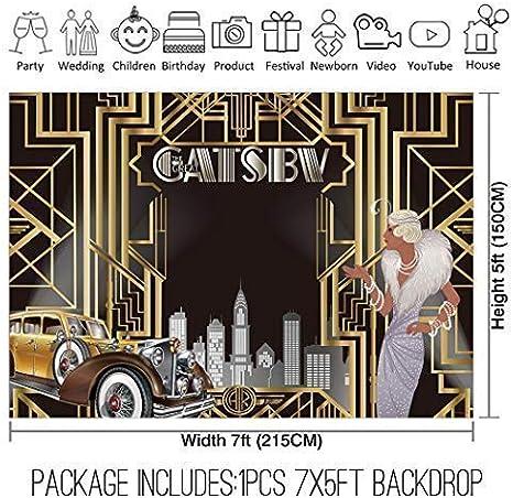 Amazon.com: Allenjoy Gatsby - Telón de fondo para fiestas ...