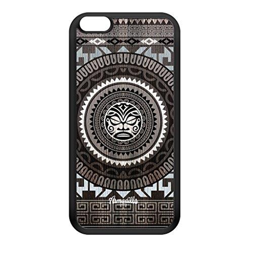 Maori Totem schwarze Hülle zum Einrasten aus Silikon Gummi Schutzhülle Rückseite für iPhone 6 Plus vom Gangtoyz + wird mit KOSTENLOSER klarer Displayschutzfolie geliefert