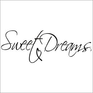 Hi-Shop Sweet Dreams Bedroom Quote Decors Wall Saying Decals Quote for Home Wall Stickers Nursery Room Decor