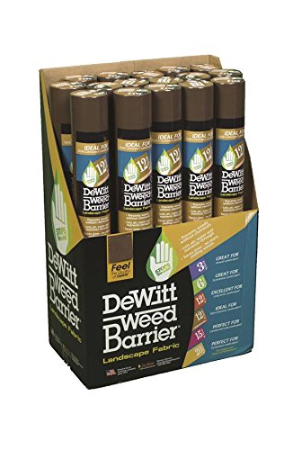 (Dewitt Brown 3-Foot by 50-Foot 3oz Weed Barrier Pro Landscape Fabric PBN350)