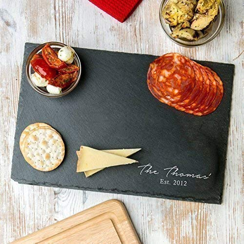Personalized Serving Platter/Slate Cheese Board/House Warming Presents/Wedding Anniversary Gifts for -