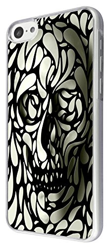 465 - Cool Fun Sugar skull Design iphone 5C Coque Fashion Trend Case Coque Protection Cover plastique et métal