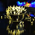 Vmanoo M5 Decorative Battery Operated String Lights 50LED Clear Mini Fairy Christmas Lighting Decor Timer For Outdoor Indoor Garden Patio Lawn Bedroom Wedding (Warm White)