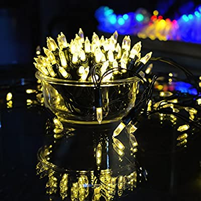 Solar Christmas String Lights, Outdoor Waterproof Solar Powered Clear Mini Starry Fairy Lights, Ambiance Lighting for Garden Patio Holiday Home Wedding Party Christams Tree Decoration