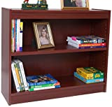 Norsons Industries Essentials Laminate Bookcase, 30-Inch, 1-Inch Thick Adjustable Steel Reinforced Shelves, Mahogany Review