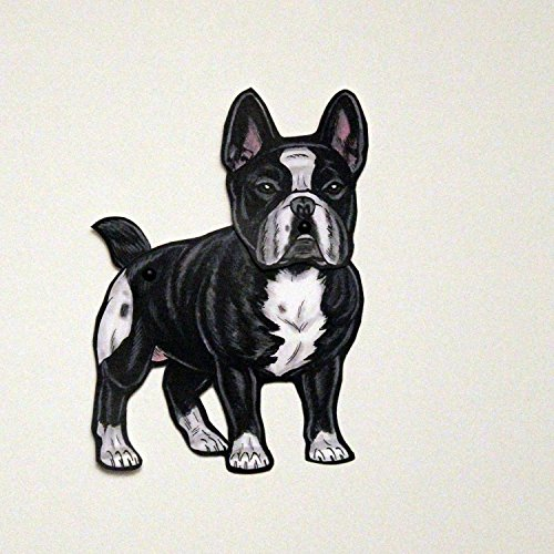 Set of 3 French Bulldog Jointed Paper Doll Gift Tags ()