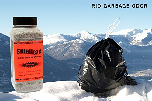 SMELLEZE Natural Trash Smell Removal Deodorizer: 50 lb. Granules Destroy Dumpster Stink by SMELLEZE (Image #2)
