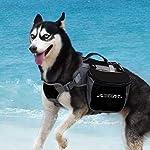 ThinkPet Outdoor Dog Backpack Reflective Saddle Bag - Dog Pack Double Bag for Hound Travel Rucksack for Medium Large Dogs 17