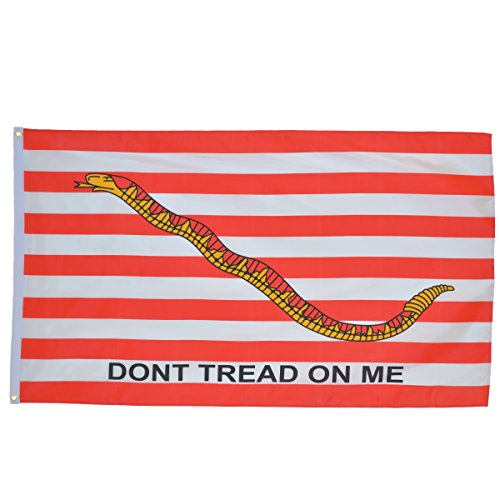 (In the Breeze First Navy Jack Don't Tread on Me Grommet Flag, 3 by 5-Feet)