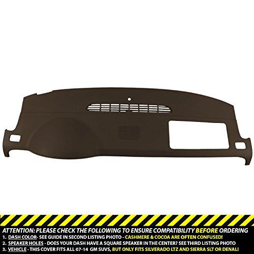 DashSkin Molded Dash Cover Compatible with 07-14 GM SUVs w/Dash Speaker in Cocoa