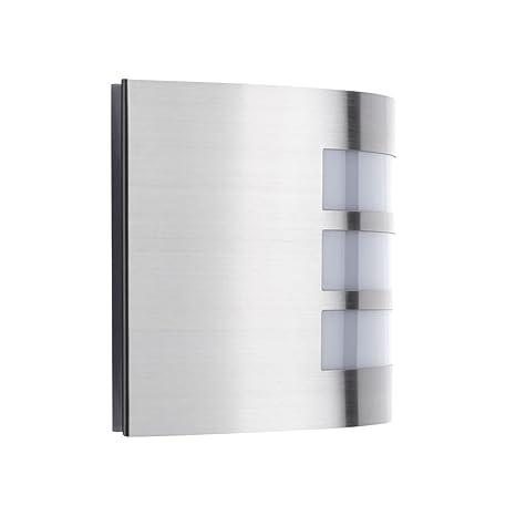 Biard Louvre Aplique Curvo para Iluminación de Exterior - Acero Inoxidable Cromado - Modelo Moderno - Ideal para Jardín, Patio y Terraza (E27, ...