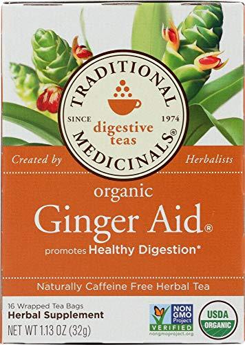 Traditional Medicinals Organic Ginger Aid Herbal Tea 16 Tea