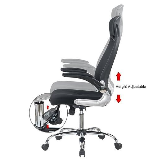 iwmh fauteuil de direction si ge ergonomique grande taille avec accoudoirs pliables chaise de. Black Bedroom Furniture Sets. Home Design Ideas