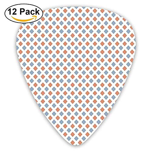 Border Big Bold (Geometrical Image With Colored Rhombs And Bold Borders Guitar Picks 12/Pack)