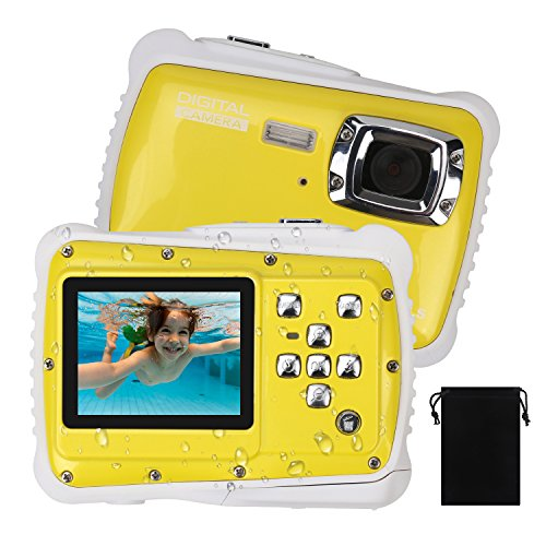 Waterproof Camera for Kids, DECOMEN Underwater Digital Camera for Children, Sport Action Camcorder with 12MP HD Photo Resolution, 2.0'' LCD, 8X Digital Zoom, Flash, and Mic, Best Gift Choice for Kids. by DECOMEN