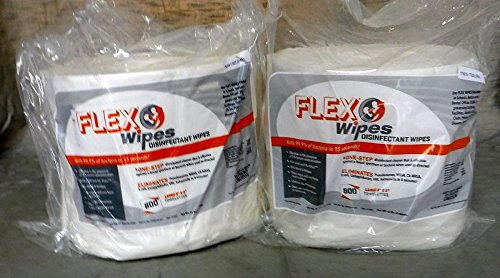 2 Rolls of 8''x 6'' Flex Wipes Refill 800 ct ea roll Gym Disinfectant Equipment