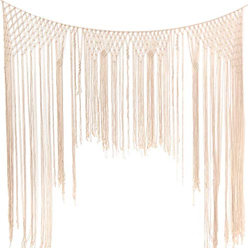 (Large Macrame Wall Hanging,Macrame Woven Wall Hanging,Macramé Handwoven Boho Chic,Bohemian Wedding Backdrop for Home Art Decor,Living Room Bedroom Decorations,Ceremony or Photography. 6FT X 7FT)