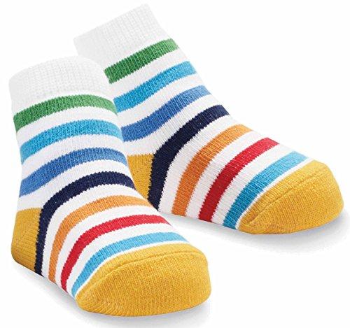 Mud Pie Boys' Baby Newborn Striped Sock, Multi, 0-12 Months