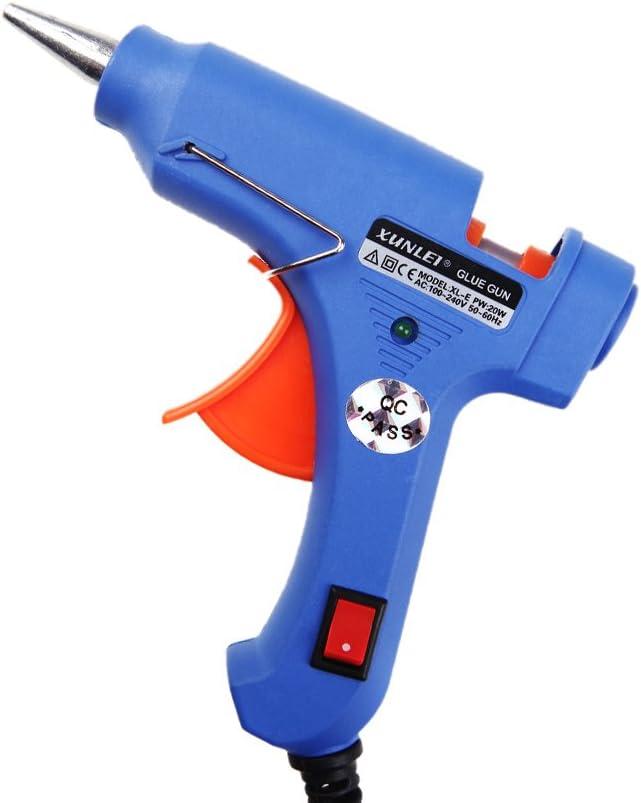 Anself Pistola de pegar Pistola de encolar con 50 Palitos de pegamento 20W