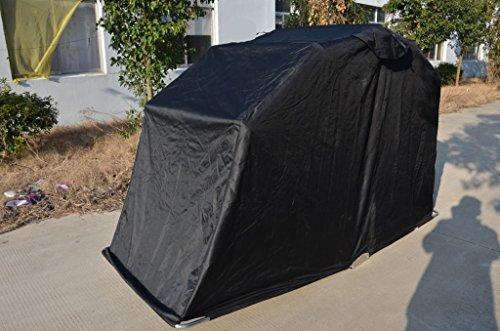Plovet_Trading MemoryCapital moto impermeable plegable almacenamiento antipelusas al aire libre tienda de campaña garaje granero puerto 270 cm (L) x 105 cm ...