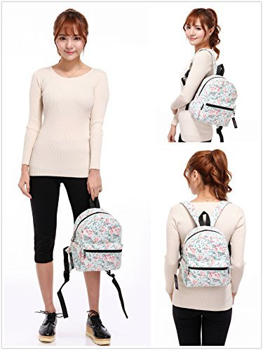 """Lightweight Travel Mini Backpack for Women and Teens (Beach White Small) 2 <p>MEDIUM size 15-inch backpack. Please note there are two sizes: small and medium. This medium-sized backpack is 15.5"""" tall x 11.5"""" wide x 6.3"""" deep. Binders, folders and laptop computers will fit. See pictures and description for reference and further details. POCKETS. Two side pockets for water bottles, sun-glasses, etc. Front zippered pocket for small items such as pens, phone, etc. Large main compartment with heavy-duty double zippers for big items such as laptop, binder, books, notebook, folder, and more. PERFECT for laptop. Convenient internal sleeve is ideal for a 14-inch laptop computer, tablet or iPad. Perfect fit for MacBook, MacBook Air or MacBook Pro 13-inch. Maximum laptop size is about 13-1/2"""" x 10"""" x 1"""" thick. DURABLE and PRACTICAL. Heavy-duty 600 denier oxford canvas exterior with padded back. 210 denier oxford interior lining. Adjustable foam-PADDED SHOULDER STRAPS fit all sizes from small teens to full-grown adults. OTHER USES: Lightweight carry on travel bag, ladies large backpack purse, cute preschool diaper bag, elementary school student bookbag, hiking, picnic etc.</p>"""
