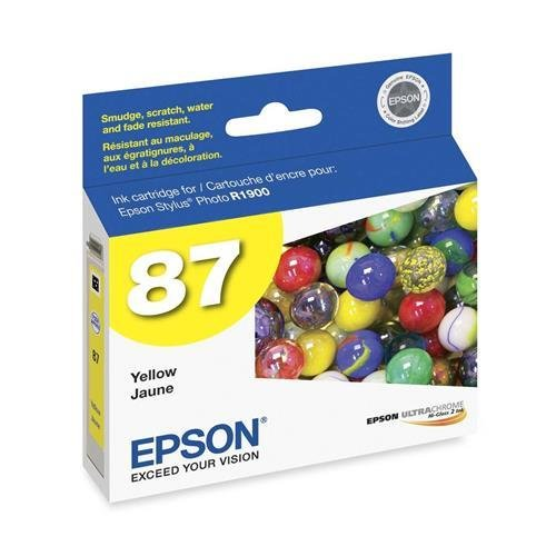 Epson - T087420 UltraChrome Hi-Gloss 2 Ink, Yellow - (T087420 Yellow Ink)