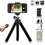 LONENESSL Digital Cam Phone Tripod Set: Portable and Adjustable Camera Stand Holder With Bluetooth Remote and Universal Clip For Any Smartphone Cam and Go Pro, Self Timer For Selfie, Bends and Rotates