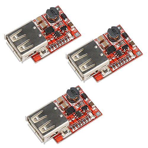 le, DROK 3pcs USB DC-DC Step up 3V to 5V 1A Convert Voltage Regulator Board for MP3 MP4 Phone Charging ()