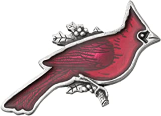 product image for Danforth - Cardinal Brooch Pin - 2 Inches - Pewter - Handcrafted - Made in USA