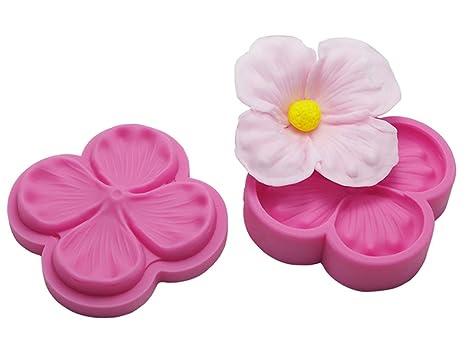 FOUR-C Fondant herramientas flores flores Veiner repujado moldes silicona NY Cake Moldes para cupcake