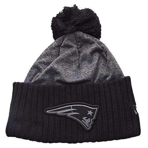 NEW ERA NFL Grey Collection Pom Knit Caniche Gorro New England Patriots