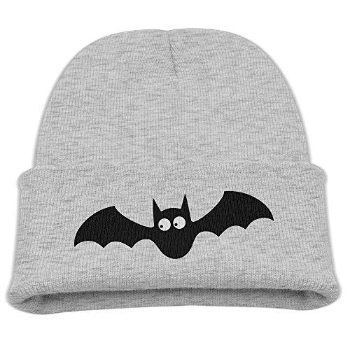 Yimo Cute Bat Kids Retro Beanies Black