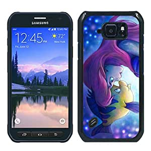 Fashionable S6 Active Case,Ariel The Little Mermaid Black Customized Case For Samsung Galaxy S6 Active Case