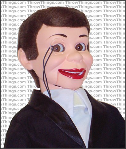 ThrowThings Charlie McCarthy Deluxe Upgrade Ventriloquist Dummy, 30 Inch