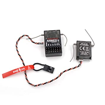 Favrison 2.4 GHz 6CH Empf/änger Kanalempf/änger S603 Digital Spread Modulation kompatibel JR Dx7 Dx6i Dx8 Dx9 Dx5e RC