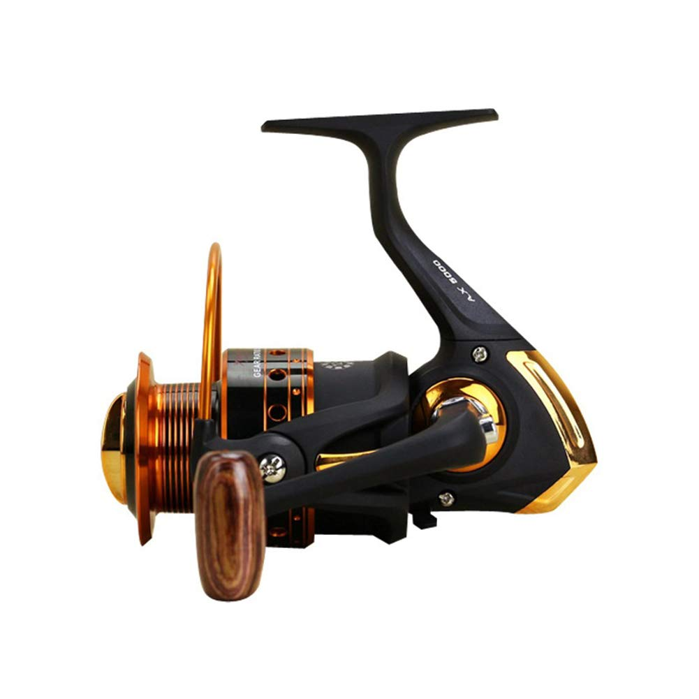 Yumos Spinning Fishing Reel,12 1 Stainless Steel Shielded Bearings Light Weight, Super Smooth Powerful, Size 500 Suitable for Ultralight Ice Fishing.Freshwater Saltwater