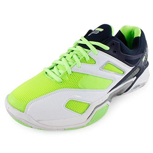 Fila Mens Sentinel Tennis Shoe White / Blue Night / Green Gecko fhkvQ