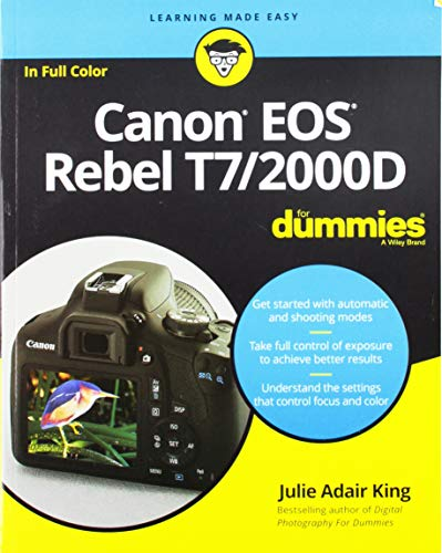 A photography class—in a book! Your Canon EOS Rebel T7/1400D provides enough camera power to take the pro-style shots you've dreamed of shooting—and this book shows you how. Canon EOS Rebel T7/1400D For Dummies bridges the gap between taking quick sh...